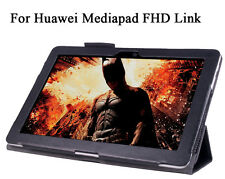 """PU Leather Skin Case For Huawei Mediapad FHD Link 10 10.1"""" Tablet Shell +Screen"""