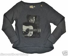 Billabong BOB MARLEY CREWNECK Gray White Junior's Reggae Sweatshirt Sweater