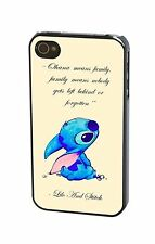 Ohana Lilo And Stitch Quotes Back Phone Case Cover For iPhone 4S 5S 5C