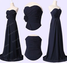 XMAS FINAL DISCOUNT~Long Bridesmaids Dress Evening Cocktail Party Prom Ball Gown