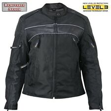 Xelement XS-1971 Womens Tri-Tex Soft leather Armored Street Motorcycle Jacket