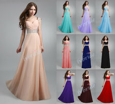 New Long Chiffon Evening Formal Party Ball Gown Prom Bridesmaid Dress Stock6 -16