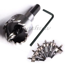 16-50mm Carbide Tip Tipped Drill Bit Set Metal Wood Alloy Cutter Hole Saw Tool