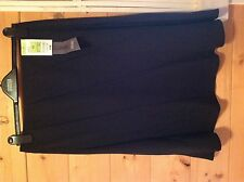 NEW EX M&S BLACK WITH WHITE SPOTS  ELASTICATED WAIST SKIRT