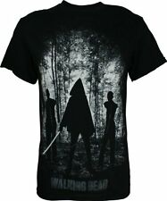The Walking Dead Michonne & Walkers Zombies Licensed NWT Men's T-Shirt - Black