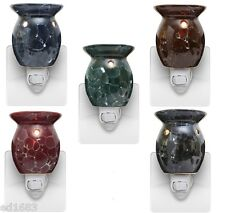 Marble Style Electric Scented Wax Tart Oil Plug In Warmer Burner Night Lamp