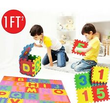 NEW 36PCS FOAM ALPHABET NUMBER BABY CHILDREN SOFT JIGSAW PUZZLE PLAY MAT 2 SIZES