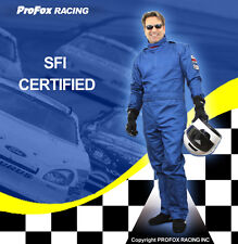 PROFOX BLUE Race Racing Driver Driving Fire Retardant Suit Suits SFI-1 Rated