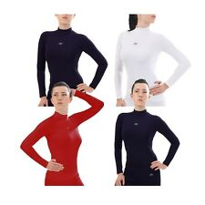 Womens Long Sleeve Compression Shirt Under Base Layer EW