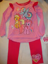 MY LITTLE PONY 2 piece set ADORABLE LEGGING & SHIRT NWTS