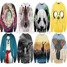 2014 Fashion Women/Men 3D Print Pullovers Galaxy Sweatshirts animal Sweaters