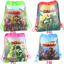 Boy's How to Train Your Dragon Cartoon Drawstring Backpack Children's School Bag