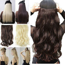 """17-30"""" New 3/4 Full Head Hair Extensions Black Brown Blonde Red Straight Wavy AG"""