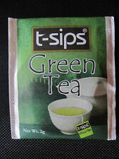 9 - 25 Individually Enveloped Tea Bags Green Ceylon Tea  by T-Sips Sri-Lanka UK