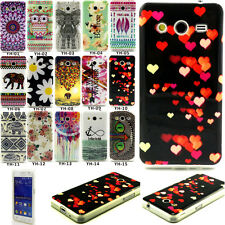 Rubber Silicone Paint Pattern Back Case Cover For Samsung Galaxy Core II 2 G355H