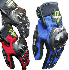 Skull Motorcycle Cycling Bike Bicycle Full Finger Sport Protective Racing Gloves
