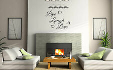 LIVE LOVE LAUGH WALL ART/DECAL QUOTE STICKER - KITCHEN/LIVING!!!!