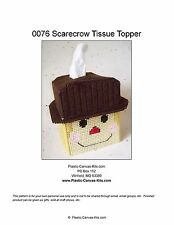 Scarecrow-Fall- Tissue Topper-Plastic Canvas Pattern or Kit