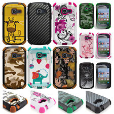 For Samsung Galaxy Centura Discover Hybrid Tough Defender Hard Case Cover Stand