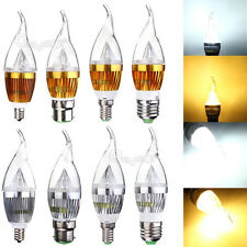 E12 B22 Dimmable 3W 6W 9W Sharp Flame LED Chandelier Candle Light Bulb Lamp