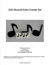 Musical Note Coaster Set-Plastic Canvas Pattern or Kit