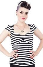 Sourpuss Vavavoom Fitted Black & White Stripe Top 4 Piece Wholesale Prepack Lot