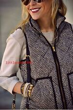 NWT J.Crew Excursion Quilted Puffer Vest in Herringbone XXS XS S M L XL XXL