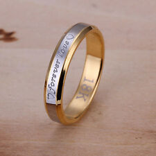 Couples Ladies Gift 18K Jewelry Forever Love Ring Gold Plated Ring 4 Size