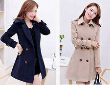 2014 new Korean Women Slim thin long section of double-breasted wool coat 8860
