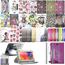 """360 Universale in Pelle Stand Custodia Cover Per Android Tab Tablet per 7 """" 8"""" 9 """" 10"""" 11"""