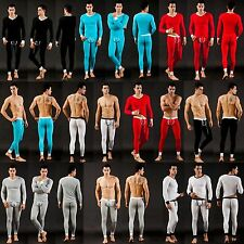 Sexy Men Soft Thermal Underwear Long Johns Warm Tee Tops Pants Bottom Set S M L