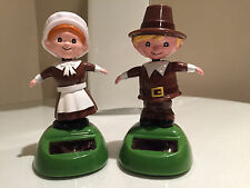 BRAND NEW SOLAR POWERED DANCING PILGRIMS - JUST IN TIME FOR THANKSGIVING!
