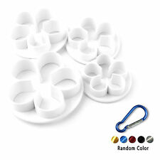 Fondant Cake Cutter Plungers Cookies Mold Sugarcraft Decor Tools+Carabiner BL