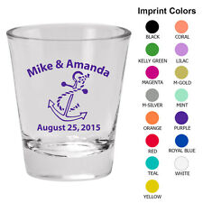 Personalized custom shot glasses Wedding favor shot glass fast shipping (1069)