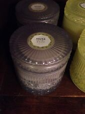 NEW! CAPRI BLUE MUSE COLLECTION GLASS VINTAGE JELLY JAR CANDLE ANTHROPOLOGIE $48