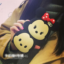 Cute cartoon disney minnie red Bow Silicone case soft Cover for iPhone6 plus 5S