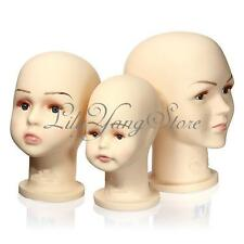 Children Mannequins Manikin Head for Wigs Hats Show Mould Stand Model Display