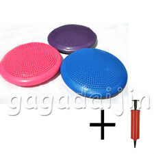 Stability Disc Balance Pad Wobble Cushion Ankle Knee Board WITH PUMP 3 colors