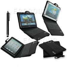 """Bluetooth Keyboard Leather Case For 9″ 10"""" 10.1″ inch Tablet PC Android Windows"""