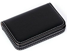 Leatherette Business Name Card Holder Wallet Box Case