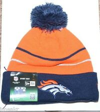NEW ERA NFL DENVER BRONCOS ORANGE NAVY BLUE CUFF KNIT BEANIE HAT ONE SIZE ADULT