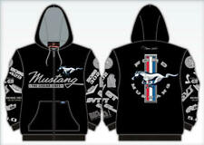 Mustang Hoodie Mens Multi-Logo Embroidered Sweatshirt Jacket, Mach 1, BOSS, SVT
