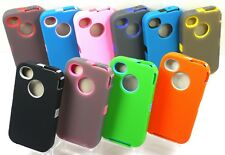 NEW 3 LAYER DEFENDER ARMOR RUGGED CASE FOR iPHONE 4 4S w/ BUILT IN SCREEN COVER