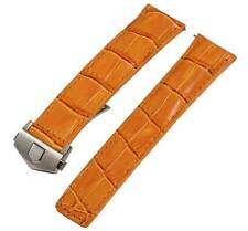 Orange Croco Leather Interchangeable Watch Band Strap - Made for Tag Heuer