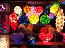 DIY Ball Lampshade IQ Jigsaw Puzzle Infinity Light Hanging Lighting Decor S/M/L