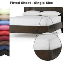 FITTED SHEET - SINGLE Size - In 26 Colours - Autumn Nights