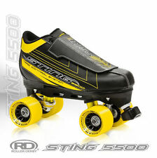 NEW! ROLLER DERBY STING 5500 QUAD SPEED SKATES MENS sz 6-12 ABEC 7