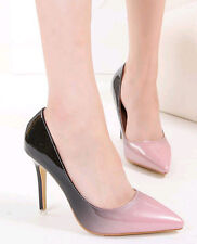 Hot Stylish Womens Patent Leather Mixed Colors Wedding High Heel Stilettos Shoes