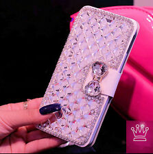 Bling Crystal Photo Frame Stand Leather Case Cover For Note 3/4 iphone 5/6 Z3