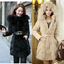 Fashion Women Winter Super Long Down Coat fur collar Hooded Parka Jacket